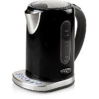 Petit Dejeuner - Cafe BORETTI B510 Bouilloire temperatures reglables - 2200 W - Corps metal - Noir