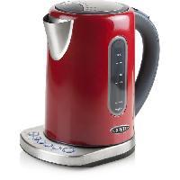 Petit Dejeuner - Cafe BORETTI B511 Bouilloire températures réglables - 2200 W - Corps métal - Rouge