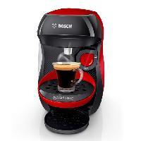 Petit Dejeuner - Cafe Machine a café multi-boissons - BOSCH - TASSIMO - T10 HAPPY - Rouge et anthracite