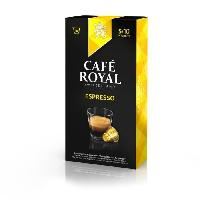 Petit Dejeuner 10 capsules Cafe Royal Espresso Capsules compatibles Systeme Nespresso