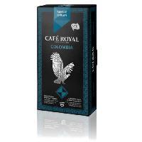 Petit Dejeuner 10 capsules Cafe Royal Single Origin Colombia Capsules compatibles Systeme Nespresso