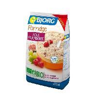 Petit Dejeuner BJORG Porridge Figue Framboise Bio 375g