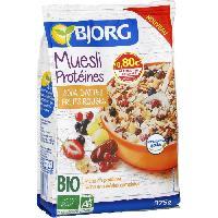 Petit Dejeuner Bjorg Muesli Protéines  Soja 375g - Aucune