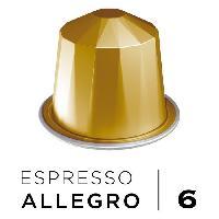 Petit Dejeuner Cafe Espresso Allegro Intensite 6 - Compatibles Nespresso - 10 capsules aluminium - 55 g