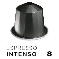 Petit Dejeuner Cafe Espresso Intenso Decaffeinato Intensite 8 - Compatibles Nespresso - 10 capsules aluminium - 55 g
