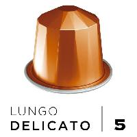 Petit Dejeuner Cafe Espresso Lungo Delicato Intensite 5 - Compatibles Nespresso - 10 capsules aluminium - 55 g