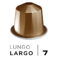 Petit Dejeuner Cafe Espresso Lungo Largo Intensite 7 - Compatibles Nespresso - 10 capsules aluminium - 55 g
