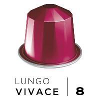 Petit Dejeuner Cafe Espresso Lungo Vivace Intensite 8 - Compatibles Nespresso - 10 capsules aluminium - 55 g