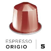 Petit Dejeuner Cafe Espresso Origio Intensite 5 - Compatibles Nespresso - 10 capsules aluminium - 55 g