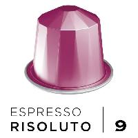 Petit Dejeuner Cafe Espresso Risoluto Intensite 9 - Compatibles Nespresso - 10 capsules aluminium - 55 g