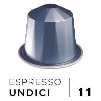 Petit Dejeuner Cafe Espresso Undici Intensite 11 - Compatibles Nespresso - 10 capsules aluminium - 55 g