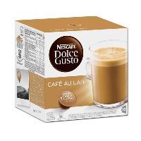 Petit Dejeuner Dolce Gusto Cafe au Lait 16 Capsules 160g Nescafe