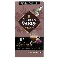 Petit Dejeuner JACQUES VABRE Cafe Guatemala No8 - 10 capsules - 52 g