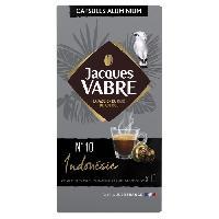 Petit Dejeuner JACQUES VABRE Cafe Indonesie No10 - 10 capsules - 52 g