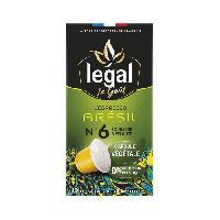 Petit Dejeuner LEGAL Cafes l'Espresso Bresil - 50 g - 10 Capsules