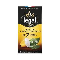 Petit Dejeuner LEGAL Cafés l'Espresso Lungo Mattino - 50 g - 10 Capsules