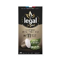 Petit Dejeuner LEGAL Cafés l'Espresso Ristretto - 50 g - 10 Capsules