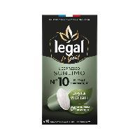 Petit Dejeuner LEGAL Cafés l'Espresso Sublimo - 50 g - 10 Capsules