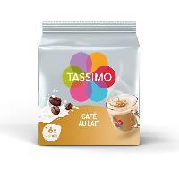 Petit Dejeuner Tassimo Cafe au Lait en Dosettes x 16 - 184gr - x5 pack