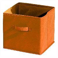 Petit Meuble Complement COMPO Tiroir de rangement - Tissu - 27x27x28 cm - Orange - Generique