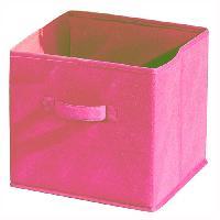 Petit Meuble Complement COMPO Tiroir de rangement - Tissu - 27x27x28 cm - Rose - Generique