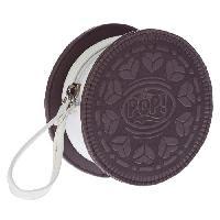 Petite Maroquinerie OHMYPOP Portemonnaie Cookie - Marron et blanc