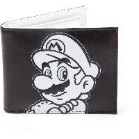 Petite Maroquinerie Portefeuille pliable Mario- Super Mario noir et blanc
