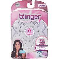 Petites Fournitures BANDAI Blinger - Recharge pour machine Blinger a coller des strass sur cheveux. vetements ou accessoires - 75 brillants inclus