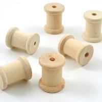 Petites Fournitures D.I.Y WITH TOGA 6 Mini Bobines En Bois