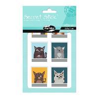 Petites Fournitures MAILDOR Pochette de gommettes Secret Stick Photo - 2 planches - Adhésives - Sans carton