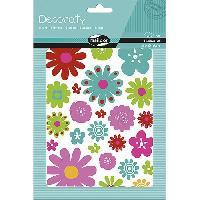 Petites Fournitures MAILDOR Pochettes de gommettes Decoraty Fleurs - 6 planches de 2 visuels adhésives
