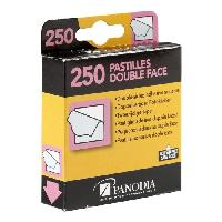 Petites Fournitures PANODIA Boîte de 250 pastilles adhésives double-face