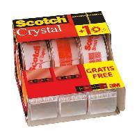 Petites Fournitures SCOTCH - Lot de 3 dévidoirs avec ruban Caddy Crystal - 2 + 1 gratuit