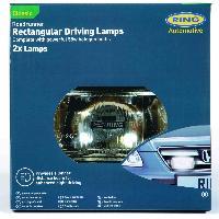Phares - Feux - Repetiteur Lateral - Clignotants - Centrale Clignotante -  Bloc Feu Arriere - Optique De Phare - Eclairage De Pl 2 projecteurs longue-portee rectangulaires ROADRUNNER - 95x180x85mm - RL022