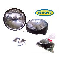 Phares - Feux - Repetiteur Lateral - Clignotants - Centrale Clignotante -  Bloc Feu Arriere - Optique De Phare - Eclairage De Pl 2 projecteurs longue portee ronds ROADRUNNER - 155mm - Ring