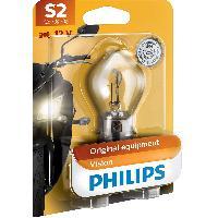 Phares - Feux - Repetiteur Lateral - Clignotants - Centrale Clignotante -  Bloc Feu Arriere - Optique De Phare - Eclairage De Pl Ampoule moto S2 12V 35W - Philips