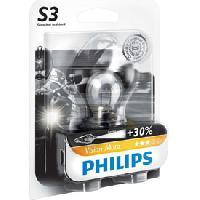 Phares - Feux - Repetiteur Lateral - Clignotants - Centrale Clignotante -  Bloc Feu Arriere - Optique De Phare - Eclairage De Pl Ampoule moto S3 12V 15W - Philips