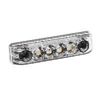 Phares - Feux - Repetiteur Lateral - Clignotants - Centrale Clignotante -  Bloc Feu Arriere - Optique De Phare - Eclairage De Pl Feu 4 LED AB-7 blanc 24V