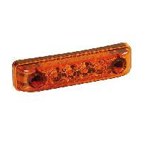 Phares - Feux - Repetiteur Lateral - Clignotants - Centrale Clignotante -  Bloc Feu Arriere - Optique De Phare - Eclairage De Pl Feu 4 leds LA-7 orange 24V