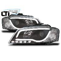 Phares Audi LTI+ Projecteurs Light Tube Inside pour Audi A3 8P - noir