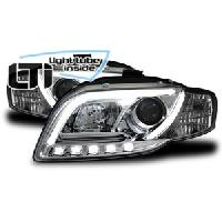Phares Audi Projecteurs LTI Light Tube Inside Audi A4 -B7- Chrome