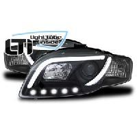 Phares Audi Projecteurs LTI Light Tube Inside pour Audi A4 -B7- Noir