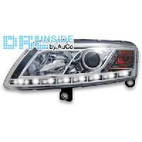 Phares Audi Projecteurs avec Feux Diurnes pour Audi A6 - chrome