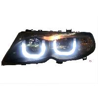 Phares BMW 2 phares LED Angel Eyes Adaptables pour BMW E46 - 01-05