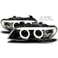 Phares BMW Projecteurs avec 2 Angel Eyes pour BMW E53 X5 - chrome