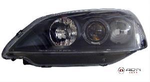 Phares Honda 2 Phares pour Honda Civic Coupe 01-05 - Angel Eyes - Noir - destockage - MID