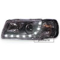 Phares VW 2 Phares Optique Feux Diurnes pour VW T4 Multivan Caravelle - noir - ADNAuto