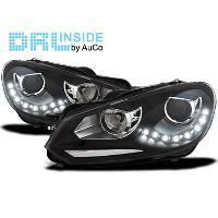 Phares VW Projecteurs DRL avec Feux Diurnes LED pour VW Golf VI 9-12