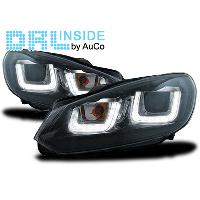 Phares VW Projecteurs avec Feux Diurnes LED pour VW Golf VI