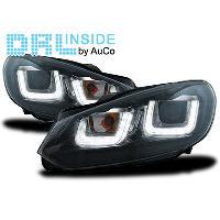 Phares VW Projecteurs avec Feux Diurnes LED pour VW Golf VI - ADNAuto